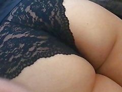 Spanked Over Lacy Panties HD